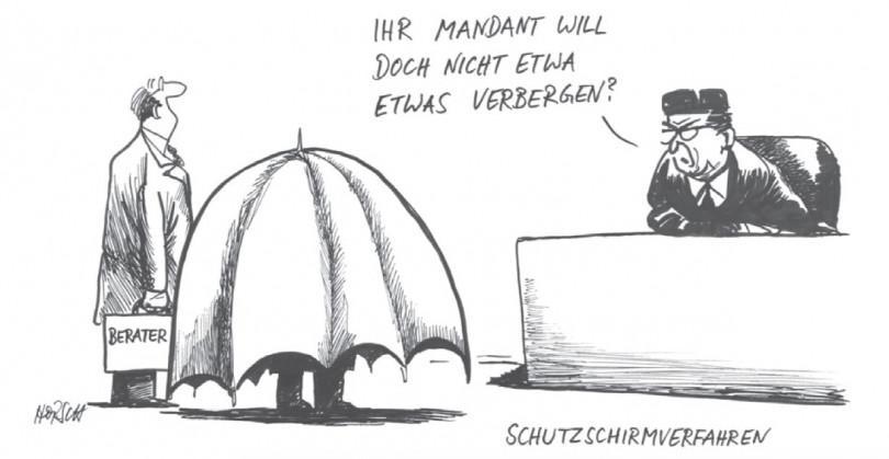 Karikatur - Mehr Chancen für die Sanierung