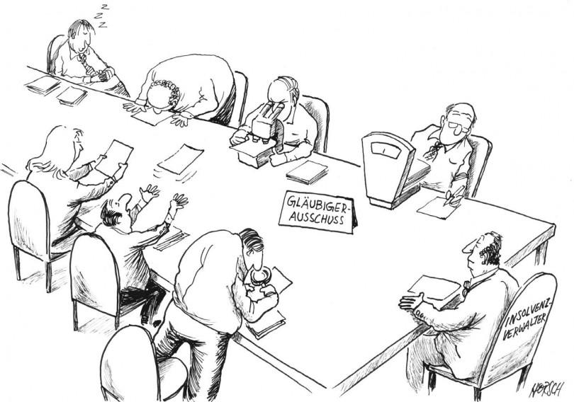 Karikatur - Gläubigerausschuss