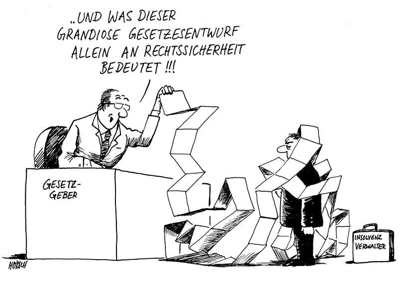 Karikatur - Reform Anfechtungsrecht