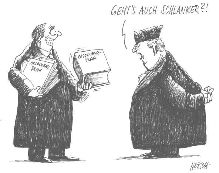 Karikatur - Schlank und schnell