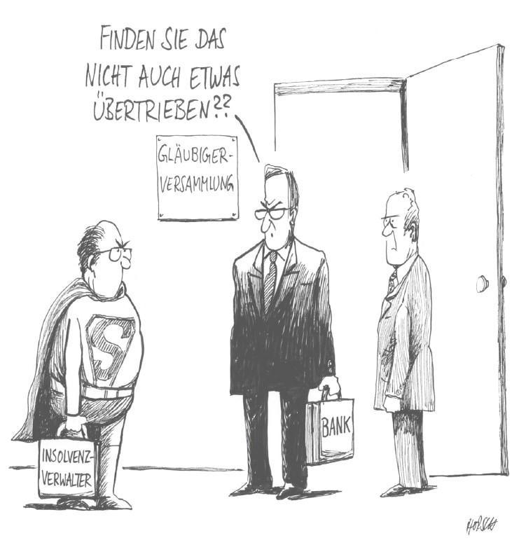 Karikatur - Nach der Torte die Tortur