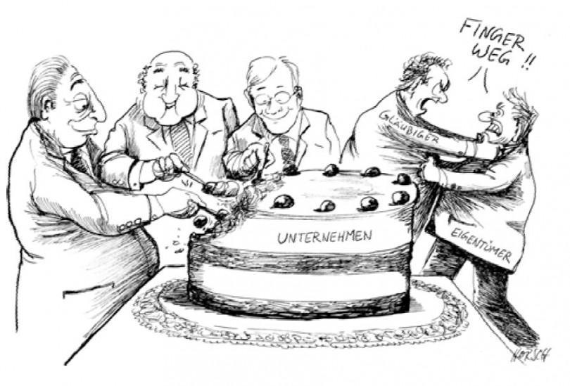 Karikatur - Unternehmenstorte
